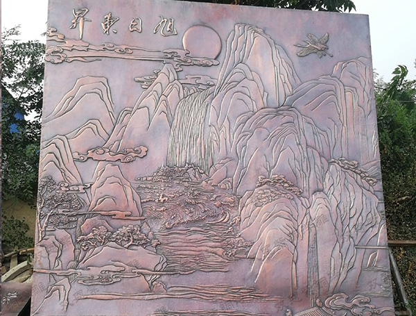 新疆锻铜浮雕80