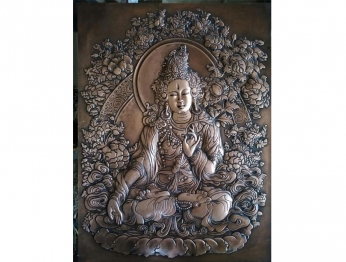 藏佛类锻铜浮雕